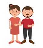 Parent couple avatars characters Stock Photography