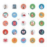 Parent Day Isolated Vector Icons Set that can be easily Edited or Modified stock illustration