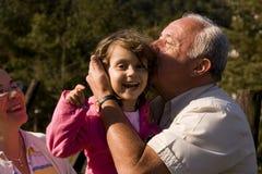 Parent et petite-fille Photo libre de droits