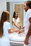 Parent, family, daughter, dad, father Royalty Free Stock Photos