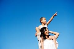 Parent fun boy Royalty Free Stock Images