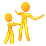 Parent love 3d humanoid icon Stock Photo