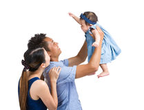 Parent playing with baby girl Royalty Free Stock Photography