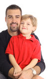 Parent simple avec le fils Image stock