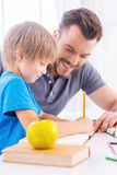 Parent support. Royalty Free Stock Photos