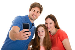 Parent Taking Selfie With Their Daughter Stock Photo