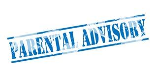 Parental advisory blue stamp. On white background Royalty Free Stock Image