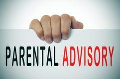 Parental advisory Stock Photo