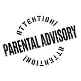 Parental Advisory rubber stamp Stock Image