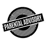 Parental Advisory rubber stamp Royalty Free Stock Photography
