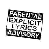 Parental Advisory Stamp Stock Images