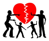 Parental Alienation. Concept sign of children getting emotional abused by divorced parents Stock Image