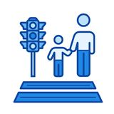 Parental care line icon. Royalty Free Stock Photos