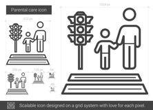 Parental care line icon. Royalty Free Stock Photo