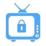 Parental control. Blue vector symbol Stock Image