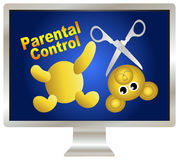 Parental Control over violence Royalty Free Stock Photo