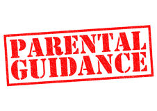 PARENTAL GUIDANCE Royalty Free Stock Photography