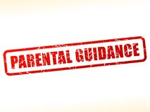 Parental guidance red text stamp. Illustration of parental guidance red text stamp Stock Photography