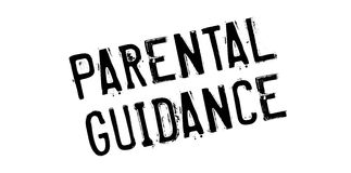 Parental Guidance rubber stamp. Grunge design with dust scratches. Effects can be easily removed for a clean, crisp look. Color is easily changed Royalty Free Stock Images