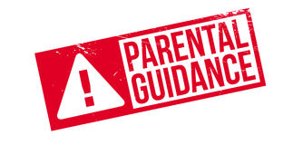 Parental Guidance rubber stamp Royalty Free Stock Photos