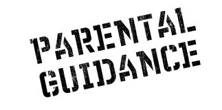 Parental Guidance rubber stamp. Grunge design with dust scratches. Effects can be easily removed for a clean, crisp look. Color is easily changed Stock Photo
