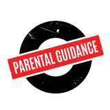 Parental Guidance rubber stamp. Grunge design with dust scratches. Effects can be easily removed for a clean, crisp look. Color is easily changed Stock Photography