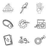 Parental icons set, outline style Stock Images