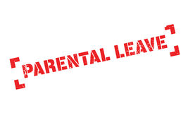 Parental Leave rubber stamp. Grunge design with dust scratches. Effects can be easily removed for a clean, crisp look. Color is easily changed Stock Photography