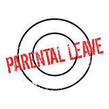Parental Leave rubber stamp. Grunge design with dust scratches. Effects can be easily removed for a clean, crisp look. Color is easily changed Royalty Free Stock Photography