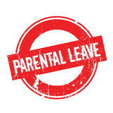 Parental Leave rubber stamp. Grunge design with dust scratches. Effects can be easily removed for a clean, crisp look. Color is easily changed Stock Photos