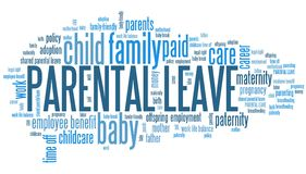 Parental leave words Stock Photos