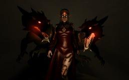 Parentele del drago del Sorceress Fotografie Stock
