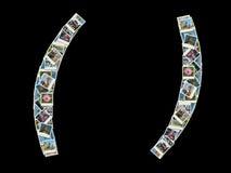 Parentesi - collage delle foto di corsa Fotografie Stock Libere da Diritti