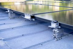Parenthèse de Mountaing de panneau solaire Photos stock