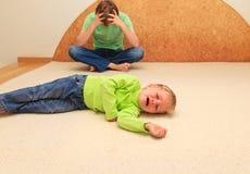 Parenting difícil Foto de Stock Royalty Free