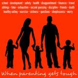 Parenting dur Image stock