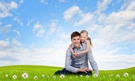 Parenting felice Fotografie Stock