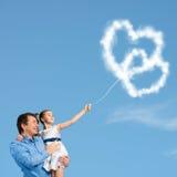 Parenting felice Fotografia Stock Libera da Diritti