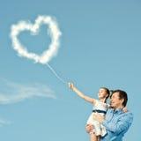 Parenting feliz Imagenes de archivo