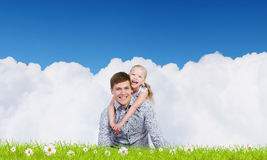 Parenting feliz Imagen de archivo