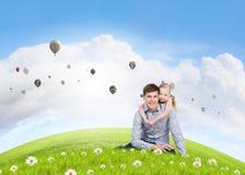 Parenting heureux Photo libre de droits