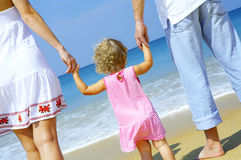 With parents Stock Photography