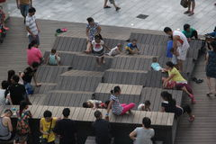 Parents accompany children to play in SHENZHEN Stock Photography
