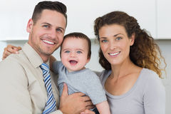 Parents with adorable baby boy Stock Images