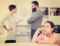 Parents arguing at home Stock Photo