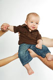 Parents arms. Royalty Free Stock Photography