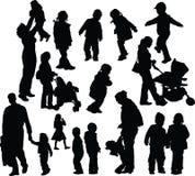 Parents avec des enfants Image libre de droits