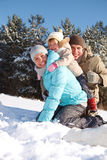 Parents avec l'enfant en bas âge Photo libre de droits