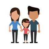 Parents avec la famille de daugther illustration libre de droits