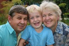 Parents avec le fils Image stock